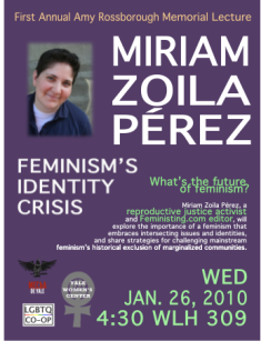 Flyer for Yale event: Feminism's Identity Crisis