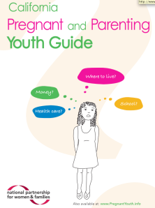 "Cover of new guide called ""California Pregnant and Parenting Youth Guide"""