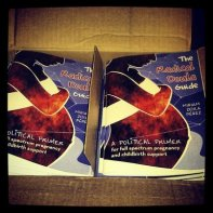 Photo of Radical Doula Guides in boxes