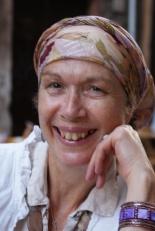 Rivka Cymbalist wearing colorful scarf