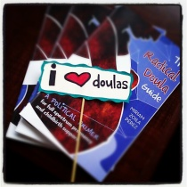 I heart doulas sign